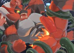 2018 abs anal anal_sex anthro anus ass balls biceps black_fur bound claws digital_media_(artwork) drooling duo erection fangs feline flora_fauna forced fur gay green_eyes humanoid humanoid_penis incineroar kunn_(artist) male mammal manly mario_bros muscular muscular_male nintendo nude open_mouth pecs penetration penis piranha_plant plant pokémon_(species) pokemon pokemon_sm rape red_fur restrained saliva sex sharp_claws sharp_teeth smile spread_legs spreading super_smash_bros. teeth tentacle tentacle_rape tentacle_sex thick_penis thick_thighs thorns tongue tongue_out triceps vein veiny_penis video_games vines yaoi yellow_sclera