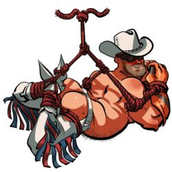bondage cowboy cowboy_hat deadscoutz engineer male male_only team_fortress_2 tied_up