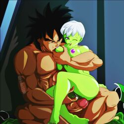 broly cheelai dragon_ball dragon_ball_super dragon_ball_super_broly erect_penis feet female fingering green_skin male muscle muscles muscular muscular_male nala1588 nude_female nude_male penis pussy pussy_juice sex short_hair sucking_breasts sucking_nipples white_hair