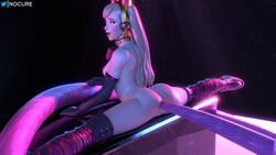 3d absurd_res anal anal_sex black_cat_d.va blender blizzard_entertainment blonde_hair bodysuit breasts cat_ears cat_tail catsuit d.va deep_penetration from_behind gape gloves heels highres looking_at_viewer looking_back male nocure21o overwatch pussy sex skin_tight splits stockings straight thighhighs