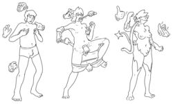angry anthro balls breasts bulge clapping clothed clothing crotch_grab digital_media_(artwork) disembodied_hand ear_pull female fur fur_growth gender_transformation grope hi_res human line_art long_tongue luxray male mammal monochrome mtf_transformation nintendo nipples nude pointing pokémon_(species) pokemon prurientpie pussy sequence shocked standing tail_pull thumbs_up tongue tongue_grab tongue_growth tongue_out topless transformation underwear_only video_games