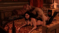 black_hair boots cheating source_filmmaker stockings the_witcher vaginal_penetration yennefer zentaeron