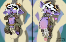 belly_riding cum_in_pussy cum_inflation cum_inside league_of_legends sexually_suggestive stomach_bulge toy tristana yordle