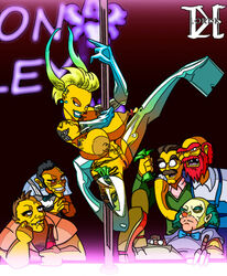 5boys areolae bald barney_gumble beard blonde_hair blue_lips boots bow bowtie breasts cigar clothed_male_nude_female clown elbow_gloves evil_grin evil_smile facial_hair female gloves green_hair grin krusty_the_clown large_areolae large_breasts maggie_simpson missing_teeth moe_syzlak moe_szyslak money moustache multiple_boys ned_flanders nipple_piercing nude older pacifier piercing platform_footwear pole_dance pole_dancing pubic_tattoo red_hair smile spread_legs stripper stripper_pole tagme tattoo the_simpsons thigh_boots thighhighs