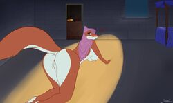 1girl 2019 all_fours animal_genitalia anthro anus arched_back ass bed blush breasts canid canine castle digital_media_(artwork) disney erect_nipples female female_only food fox fruit fur furry hair hanging_breasts headdress heart hi_res large_ass looking_at_viewer looking_back love maid_marian makeup mammal mascara mostly_nude multicolored_fur night nipples nude orange_fur paws pose presenting pussy raised_tail robin_hood_(disney) seductive simple_background smile solo solo_focus stove_(artist) surprise text thick_thighs tuft two_tone_fur watermark white_fur wide_hips