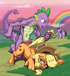 2019 alicorn anal anal_sex applejack_(mlp) cloud cowboy_hat crying dragon earth_pony equine erection feathered_wings feathers female feral forced friendship_is_magic furry grass group hair hat horn horse landscape male male/female mammal multicolored_hair my_little_pony outside penetration penis polyle pony rainbow rape sex sky spike_(mlp) tears tongue tongue_out tree twilight_sparkle_(mlp) wings