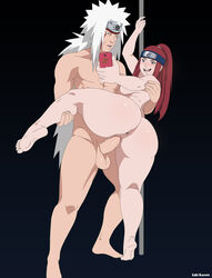 1boy age_difference anus ass balls barefoot big_ass black_eyes blue_eyes blush bubble_butt camera_phone cheating cheating_wife cuckold erection facepaint feet female female forehead_protector jiraiya large_ass leg_grab leg_lift legs_up long_hair male male_penetrating milf naked naruto naruto_shippuden nude open_mouth penetration penis phone red_hair selfie sex soles straight testicles thick_thighs toe_claws uzumaki_kushina voluptuous wide_hips