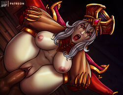 areolae balls breasts erection female full_nelson male nipples penetration penis pumpkinsinclair pussy sally_whitemane sex straight testicles vaginal_penetration world_of_warcraft