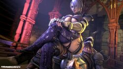 1monster 3d animated anthro boots claws cleavage crossed_legs female femdom full_cleavage isabella_valentine large_breasts legs_crossed lizardman male moaning monster namco on_top penis purple_lipstick reptile reverse_cowgirl_position sex short_hair shoulder_armor shoulder_pads silver_hair sitting_on_penis smug soul_calibur sound source_filmmaker the_firebrand thigh_boots vambraces webm white_hair
