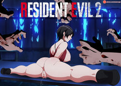 ada_wong awesomegio breasts female nipples pussy resident_evil resident_evil_2