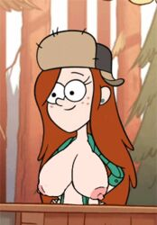 1girl animated bouncing_breasts cleavage curvy erect_nipples female gravity_falls huge_areolae huge_breasts puffy_nipples voluptuous wendy_corduroy yeti_(artist)