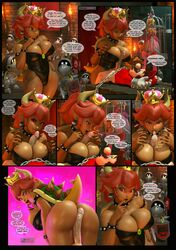 3d ass big_breasts bondage bowsette breasts buttjob cleavage cum cum_on_tongue dark-skinned_female dark_skin fellatio female femdom large_breasts looking_at_viewer male malesub mario open_mouth oral paizuri paizuri_under_clothes penis restrained source_filmmaker speech_bubble straight super_mario_bros. text tongue tongue_out urbanator