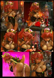 3d ass big_breasts bondage bowsette breasts buttjob cleavage cum cum_on_tongue dark-skinned_female dark_skin fellatio female femdom large_breasts looking_at_viewer male malesub mario open_mouth oral paizuri paizuri_under_clothes penis princess_peach restrained source_filmmaker straight super_mario_bros. tongue tongue_out urbanator
