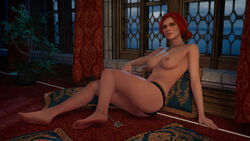 3d ass female red_hair rescraft the_witcher the_witcher_3 the_witcher_3:_wild_hunt triss_merigold