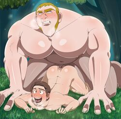 2019 2boys 5_fingers anal anal_sex anus ass ass_up bara big_dom_small_sub big_penis blonde_hair blush breath bubble_butt butt chubby clenched_teeth color digital_media_(artwork) disney doggy_style erection eyes eyes_open face_down_ass_up fingernails flynn_rider forest from_behind from_behind_position gay grass happy happy_sex huge_cock human looking_pleasured male male/male male_only male_penetrating multiple_boys muscle muscles muscular muscular_male naked niku_futon nipples nose not_furry nude open_eyes open_mouth outdoors pale-skinned_male pale_skin pecs penis puffy_anus rolling_eyes saliva saliva_string sex sideburns size_difference snot stabbington_brothers sweat tangled teeth teeth_clenched tongue tongue_out uncensored vein veins veiny veiny_penis yaoi