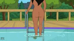 animated animated_gif ass big_breasts big_butt breasts bubble_ass bubble_butt climbing closed_eyes dark-skinned_female dark_skin earrings eyeshadow female gif jewelry lips lipstick naked necklace nipples nude nude_female open_eyes open_mouth pink_nipples pool roberta_tubbs smile solo solo_female switching teeth the_cleveland_show water wet
