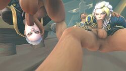 2boys 2girls 3d :>= animated balls big_balls blonde_hair braid clothed clothed_female_nude_male daughter deepthroat eye_contact faceless_male fellatio female gloves green_eyes grey_hair highres huge_cock human irrumatio jaina_proudmoore katherine_proudmoore long_hair looking_at_another male mother mother_and_daughter multiple_boys multiple_girls multiple_penises no_sound nude on_floor oral parallel_sex penis rolling_eyes semi_incest shweeei side_braid source_filmmaker straight two_tone_hair upside-down warcraft webm white_hair world_of_warcraft