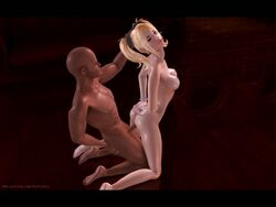 3d anal animated animation bdsm bondage dark-skinned_male female forced from_behind humiliation interracial juliet_starling lollipop_chainsaw male no_sound onepansex penis rape rough slave webm