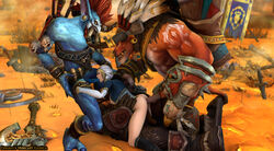 all_holes all_three_filled ass baine breasts clothed defeated female garrosh group_rape group_sex horsecock jaina_proudmoore orc rape ripped_clothing tauren troll voljin warcraft world_of_warcraft wow