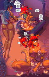 ahe_gao barefoot big_ass big_breasts biting_lip bowsette clenched_teeth cowgirl_position dark-skinned_female dark_bowsette dark_skin femdom fred_perry huge_ass huge_breasts large_ass large_breasts larger_female mario mario_(series) mario_bros moaning muscular_female naughty_face nintendo orgasm orgasm_face rough_sex screaming seductive seductive_smile smaller_male smile super_crown tall thick_thighs