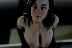 3d areolae blender breasts female female_only looking_at_viewer mass_effect miranda_lawson nipples rigid3d solo