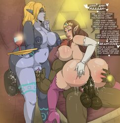 2boys 2girls contingency cuckold dark-skinned_male dark_skin female ganondorf interracial link male midna princess_zelda sex small_penis_humiliation the_legend_of_zelda twilight_princess