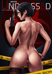 ada_wong anal anal_insertion ass breasts buttplug dandon_fuga female pussy resident_evil solo