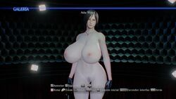3d ada_wong asian breasts female gloves large_breasts mod naked nipples pubic_hair resident_evil resident_evil_6 screen_capture screencap short_hair solo spanish_text wide_hips