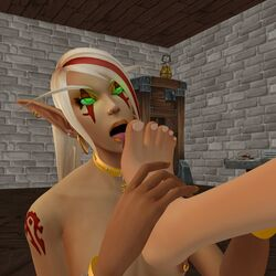 blood_elf feet female female_only foot_lick foot_worship human licking shikron warcraft world_of_warcraft yuri