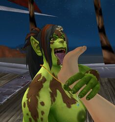 anklet feet female foot_lick human orc shikron warcraft world_of_warcraft