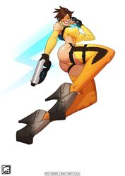 1girls cameltoe cleavage curvy erect_nipples female huge_areolae huge_ass huge_breasts overwatch puffy_nipples red_lips short_hair thick_lips tortuga tracer voluptuous wide_hips