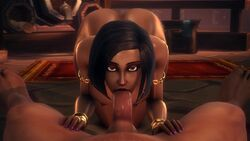 1boy 1girls 3d animated areolae ass big_breasts breasts dark-skinned_female dark-skinned_male dark_skin deepthroat erection fellatio female large_breasts looking_at_viewer male nipples noname55 oral penis pov sound source_filmmaker straight webm world_of_warcraft