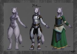absurd_res anthro belly bodysuit braided_hair breasts canid canine canis chest_tuft claws clothed clothing digitigrade dipstick_tail domestic_dog dress emberfoxart emberwick female flight_suit fully_clothed fur grey_belly grey_fur hair hi_res hybrid mammal model_sheet multicolored_fur multicolored_tail nipples nude off/on paws purple_eyes pussy skinsuit small_breasts solo standing thick_thighs tight_clothing toe_claws tuft two_tone_fur white_fur wide_hips wolf ylva