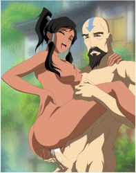 avatar_the_last_airbender cheating creampie cum_in_pussy korra male penis sex standing_sex tagme tenzin the_legend_of_korra