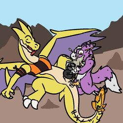 2boys alternate_color anal anal_sex black_skin black_stripes black_wings charizard crossover cum cum_in_ass cum_in_mouth cum_inside digimon digimon_(species) dipstick_tail dorumon dragon fluffy fluffy_tail fox_tail fur furred_dragon gay interspecies male male_only mega_charizard_y mega_evolution multicolored_tail nintendo oral orgasm original_character penetration pokémon_(species) pokemon pokemon_rgby pokemon_xy purple_fur purple_skin runawaydanish scales scalie sex shao size_difference stripes teeth video_games white_fur white_skin wings x-digimon yama_the_dorumon yaoi yellow_eyes yellow_scales yellow_skin