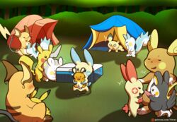 9boys alolan_raichu ambiguous_gender anal anal_sex being_watched blush camp cum cum_in_mouth cum_inside day dedenne digital_media_(artwork) doggy_style emolga empty_eyes erection fellatio feral flying_squirrel forest furry gay group group_sex half-closed_eyes interspecies larger_male male minum nintendo nude open_mouth oral orgasm orgy outdoors pachirisu penetration penis pichu pikachu plusle pokémon_(species) pokemon pokemon_bw pokemon_dppt pokemon_gsc pokemon_rgby pokemon_rse pokemon_sm pokemon_xy raichu rodent sex sitting size_difference smile squirrel tail tent testicles text togedemaru tongue url video_games vitrex watermark yaoi
