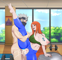 clothed clothed_female_nude_male clothing cum cyberunique edit male nami naruto penis