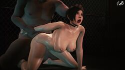1boy 1girls 3d ada_wong ahegao animated areolae big_breasts bouncing_breasts breasts choker female from_behind generalbutch large_breasts male nipples open_mouth resident_evil sex sound source_filmmaker straight tongue tongue_out webm