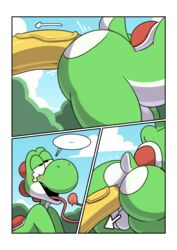 ... ahe_gao anal anal_sex anthro anthro_on_anthro ass backsack balls big_butt big_penis blush butt_focus comic duo erection fucked_silly green_yoshi half-closed_eyes huge_cock kamek komdog koopa long_tongue looking_pleasured male male/male male_penetrated male_penetrating mario_bros nintendo nude penetration penis scalie sex solo_focus text thick_thighs tongue video_games yoshi