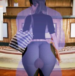 3d ambiguous_penetration animated assjob bent_over big_breasts blue_nails clothed clothed_female_nude_male clothed_sex faceless_male finalheaven from_behind ghost green_sweater invisible looking_back midriff no_sound outercourse see-through short_sleeves sleeves_pushed_up standing thigh_sex thin_waist tiles transparent transparent_body webm