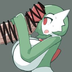 1boy 1girls big_breasts big_penis censor_bar censored drooling female gardevoir green_hair green_skin grey_background hair_over_one_eye handjob holding huge_breasts huge_penis human hyper hyper_penis interspecies larger_male male nintendo open_mouth penis penis_awe petronoise pokemon pokemon_rse red_eyes saliva short_hair sideboob size_difference sketch smaller_female source_request straight sweat two-handed_handjob veins veiny_penis white_skin
