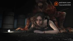 3d all_fours animated claire_redfield defeated doggy_style grabbing_from_behind gun helpless leon_scott_kennedy licker on_the_ground oscarkim123 pants_down rape resident_evil resident_evil_2 rough_sex sound tagme voyeurism watching webm