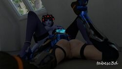 2girls 3d anal_fingering animated anus ass_shake breasts cunnilingus female_focus female_only hand_on_head masturbation nipples no_sound oral oral_sex overwatch pussy tabesc3d tracer webm widowmaker yuri