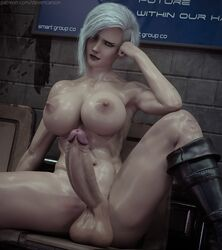 3d abs areolae balls big_breasts big_penis breasts dead_or_alive dickgirl erection futa_only futanari helena_douglas large_breasts muscles muscular muscular_futanari nipples nude penis solo spread_legs stevencarson testicles