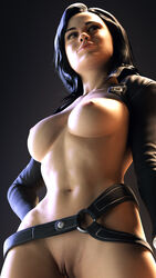 1girls 3d areolae blender breasts female female_only mass_effect miranda_lawson nipples pussy solo wunderdash