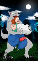 absurd_res anthro artybear big_penis breasts canid canine canis female hi_res human male male/female mammal open_mouth penis shelby wolf