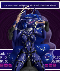 2019 animal_genitalia animal_penis anthro bad_end bondage bondage bound breasts bukkake chains collar cowgirl_position cum female forced foursome friendship_is_magic group group_sex harness male male/female my_little_pony nude on_top penis princess_luna_(mlp) pussy quakehoof rape sex