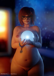 1girls 3d areolae breasts female female_only glasses looking_at_viewer mei_(overwatch) nipples nude overwatch pregnant pussy solo vgerotica
