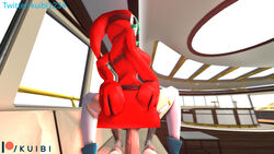 3d anal anal_sex big_breasts big_penis clothed_female_nude_male crouching green_hair hands_on_hips hoodie kuibi looking_back lying mask muscular_male nude_male patreon penis_under_skirt pov red_clothing shoes shy_gal source_filmmaker stockings super_mario_bros. text url watermark white_stockings