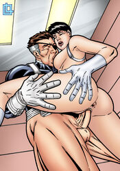 agents_of_s.h.i.e.l.d. ass ass_grab big_ass big_balls big_breasts big_butt big_muscles big_nipples big_penis black_hair brown_hair closed_eyes eye_patch grabbing grabbing_own_ass leandro_comics leg_grab leg_lift leg_up legs licking licking_breast male_penetrating maria_hill marvel marvel_comics moan moaning nick_fury nipple_licking nipples short_hair standing standing_on_one_leg standing_sex straight sucking_breasts sucking_nipples vaginal_insertion vaginal_penetration vaginal_sex white_gloves white_hair